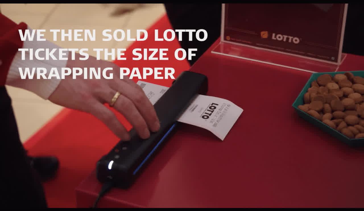 Billede af Lotto Lotto-kupon gavepapir