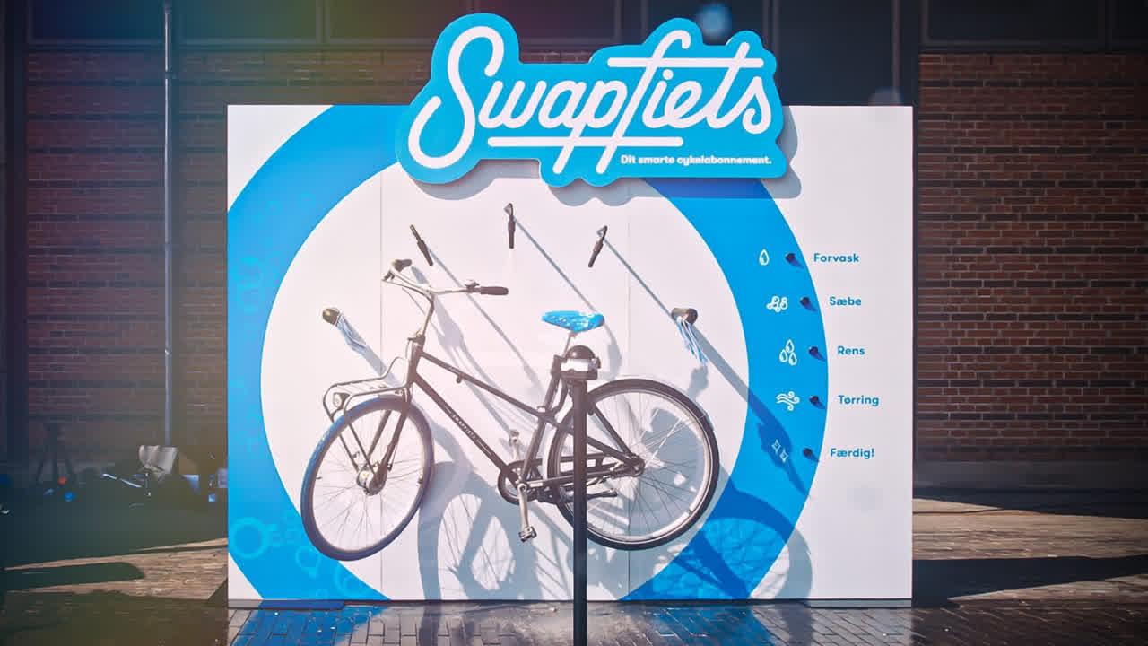 Billede af Swapfiets Bike Washing Billboard
