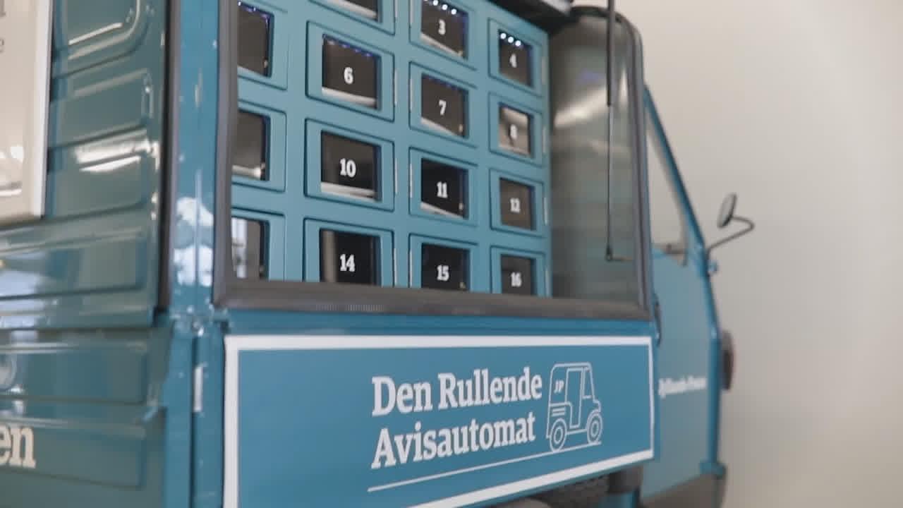 Billede af Jyllands-Posten Den Rullende Avisautomat